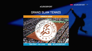 Eurosport were keen to promote their Grand Slam coverage following Sunday's final.