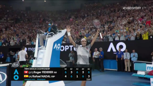 800,000 UK viewers watched Roger Federer win the Australian Open on Sunday.