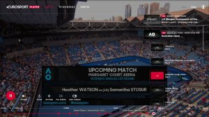 Eurosport Player offers extra content from the Australian Open