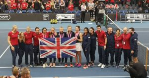 Great Britain were unbeaten at the Fed Cup zonal group stage in Bath in February.